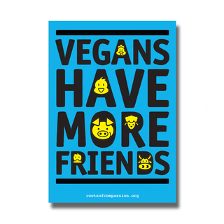 Vegans have more friends - Sticker