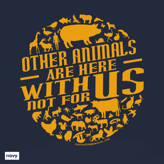 Other animals are here with us - T-Shirt - small/waisted cut
