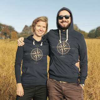 SALE! Compass (empathy, love, solidarity, respect) - Hoodie (discontinued model)