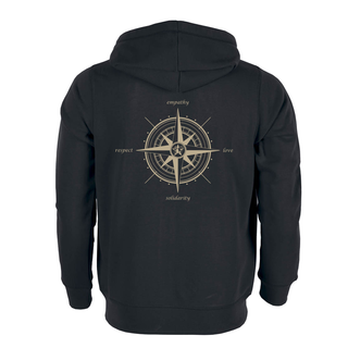 Compass (empathy, love, solidarity, respect) - Hooded Jacket - medium fit