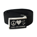 Peace Love Veganism - Belt