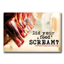 Did your food scream? - Sticker (10x)