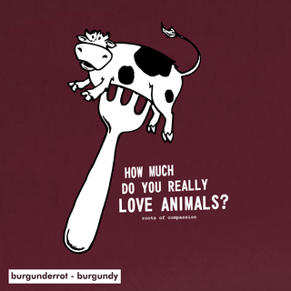 How much do you really love animals? - T-Shirt - large/loose cut