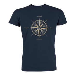 Compass (empathy, love, solidarity, respect) - T-Shirt - large/loose cut