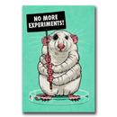 No more experiments! - Sticker (10x)