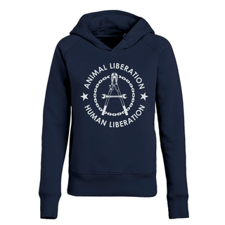 Human Liberation - Animal Liberation - Hoodie - small/waisted cut