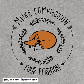Make compassion your fashion - T-Shirt - large/loose cut