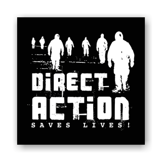 Direct Action Saves Lives - Soli-Aufnäher auf robustem Bio Canvas