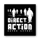 Direct Action Saves Lives - Patch on durable Bio Canvas