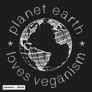Planet Earth Loves Veganism - T-Shirt - klein/taillierter Schnitt