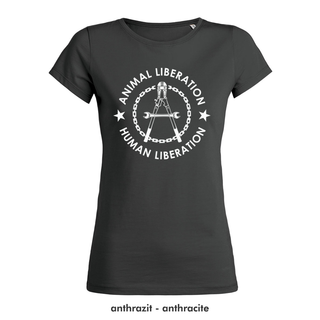 SALE! Human Liberation - Animal Liberation - T-Shirt - small/waisted cut (discontinued model)