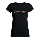 SALE! Love is Love - T-Shirt - klein/taillierter Schnitt...