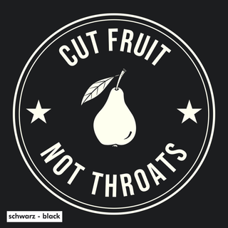 Cut fruit not throats - Kapuzenpullover