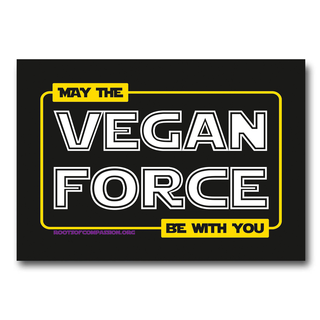 May the vegan force be with you - Sticker (10x)