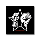Paw Fist Star - Fridge Magnet (square)