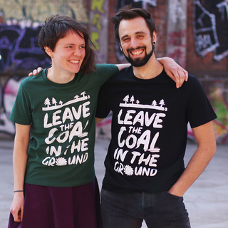Leave the coal in the ground - T-Shirt - large/loose cut