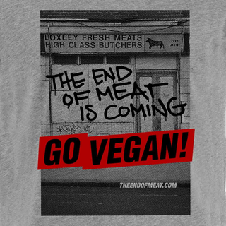The End of Meat (closed butchery) - T-Shirt - small/waisted cut