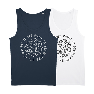 What do we want to see in the sea? - Tanktop - groß/gerader Schnitt
