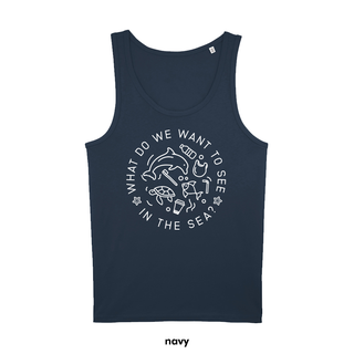 What do we want to see in the sea? - Tanktop - large/loose cut
