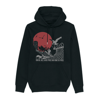 Until all are Free (fence) - Hoodie - medium fit