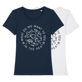 What do we want to see in the sea? - T-Shirt - klein/taillierter Schnitt