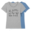 All animals want to live - T-Shirt - small/waisted cut