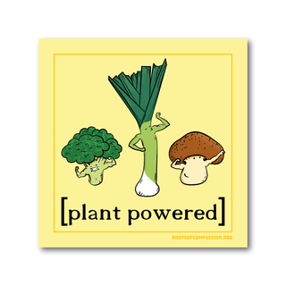 Plant Powered - Aufkleber