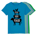 Friends not Food - T-Shirt - Kinder hellgrün meliert 98 -...