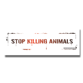 Stop killing animals (A6 lang) - Sticker (10x)