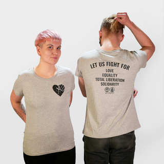 Fistheart (let us fight for) - T-Shirt - small/waisted cut