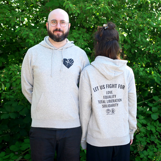 Fistheart (let us fight for) - Hoodie - medium fit