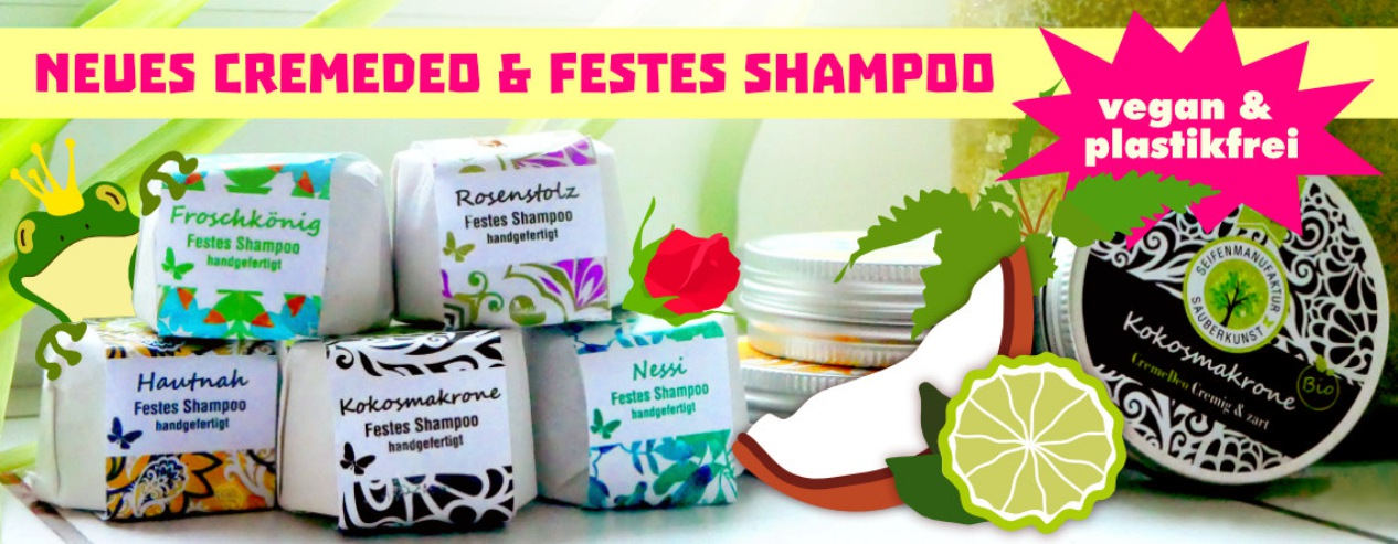 Festes Shampoo und Seife