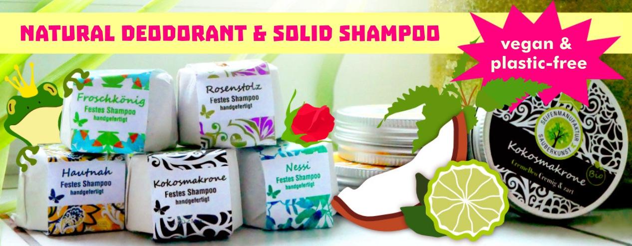 Natural Deodorant & Solid Shampoo
