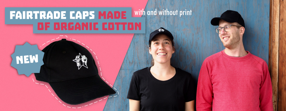 Fairtrade Caps from organic cotton
